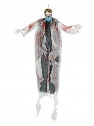 Décoration à suspendre lumineuse docteur zombie 180 cm Halloween
