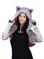 Déguisement veste de loup femme