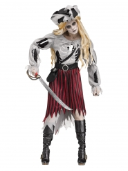 Déguisement pirate-fantôme Halloween femme