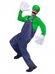 Déguisement personnage jeu vidéo vert-bleu homme