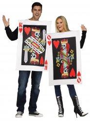 Déguisement couple carte roi et reine de cœur