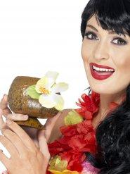 Coupe Hawaï noix de coco fleur jaune