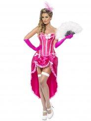 Burlesque Showgirl Ladies Costume pink-white