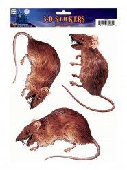 3 décorations fenêtre Rats