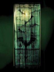 Rideau en dentelle noir Halloween 101x213 cm
