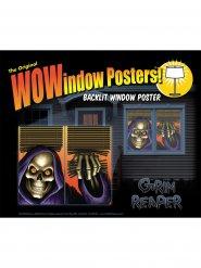 Poster fenêtre décoration Halloween 36x60cm