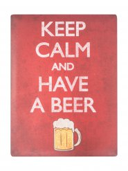 Décoration Keep Calm and Have A Beer 29,7x40cm