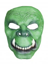 Demi-masque vert orc ou troll en latex