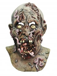Masque latex zombie gris
