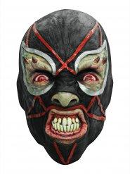 Masque latex catcheur démoniaque noir