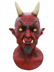 Masque latex démon Halloween Deluxe