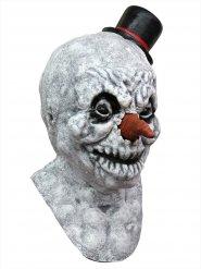 Masque Latex zombie bonhomme de neige blanc
