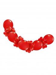 Guirlande de ballons et coeurs rouge St Valentin