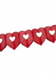 Guirlande coeurs Mariage/Saint-Valentin rouge