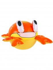 Crabe gonflable jaune et orange