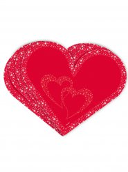 20 Serviettes coeurs Saint-Valentin