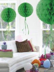 Boule décorative vert foncé en nid d