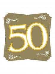 20 serviettes numéro 50