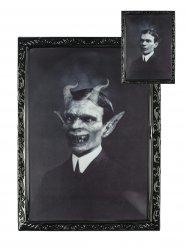 Cadre lenticulaire gentleman démoniaque 48 X 36 cm Halloween