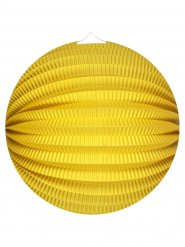 Lanterne ronde jaune 25 cm