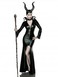 Déguisement luxe sorcière noire sexy femme