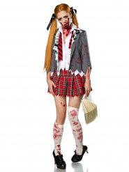 Déguisement écolière zombie femme