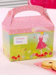 8 boîtes en carton féeriques roses 17x16x10cmDE