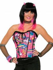 Bustier pop-star multicolore