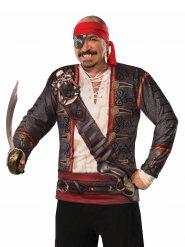 T-shirt déguisement pirate homme