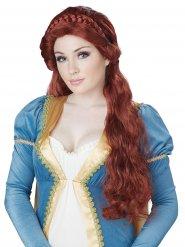 Perruque de princesse médiévale femme
