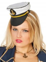 Mini chapeau capitaine marin femme