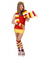 Chaussettes de sportif rouge-blanc-jaune femme