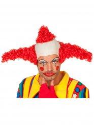 Perruque de clown rouge adulte