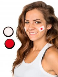 Maquillage football Japon 2 pièces rouge-blanc