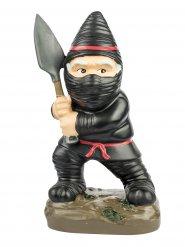 Mini nain de jardin ninja noir 9x13x23cm