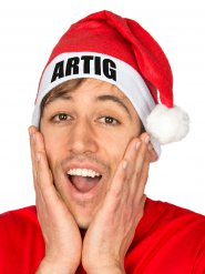Funny Christmas Hat ARTIG Santa Hat red-white