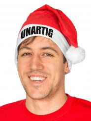 Funny Christmas Hat UNARTIG Santa Hat red-white