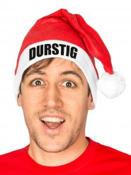 Funny Christmas Hat DURSTIG Santa Hat red-white