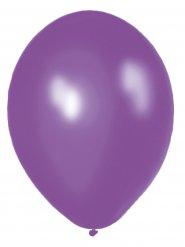 10 Ballons violet métallique 30cm