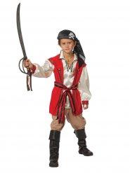 Déguisement pirate rouge et beige enfant
