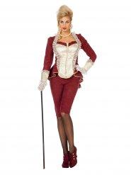 Déguisement baroque rouge femme