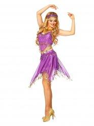 Déguisement de danseuse orientale femme violet