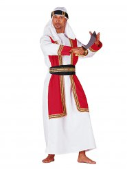 Déguisement prince oriental rouge et blanc homme