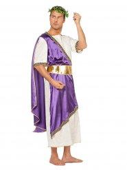 Déguisement empereur romain drapé violet homme