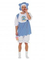 Costume bébé bleu pour adulte