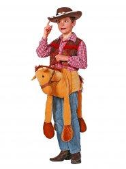 Déguisement cheval de cowboy porte-moi enfant