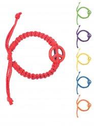Bracelet hippie cuir peace