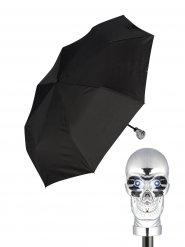 Parapluie de poche avec tête de mort