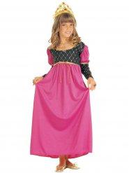 Déguisement reine médiévale rose fille