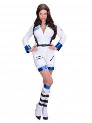Déguisement astronaute blanc femme